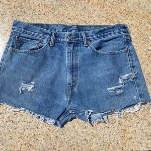 LEVI's VINTAGE Distressed Raw UPCYCLED Fray